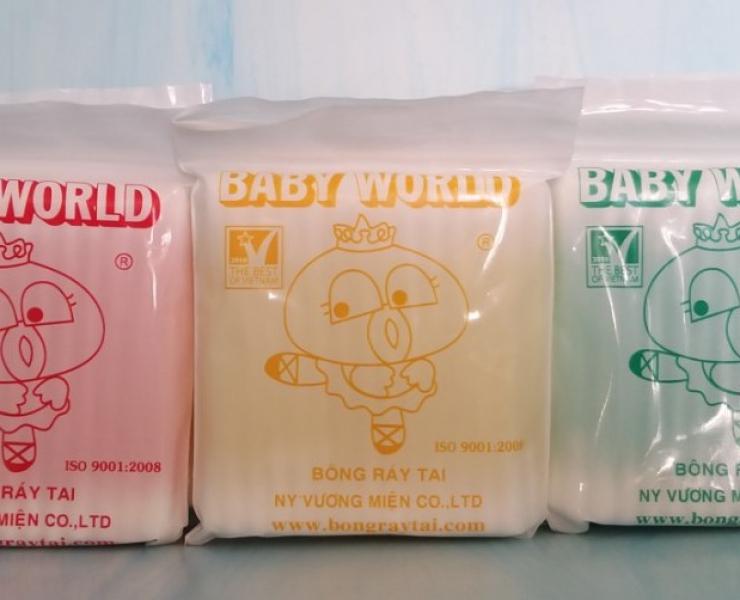 B012 - BỊCH TĂM BÔNG BABY WORLD 1 MÀU